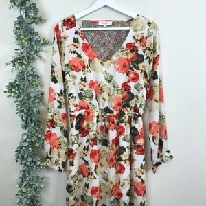 Umgee Floral Wrap Maxi Dress Size Medium